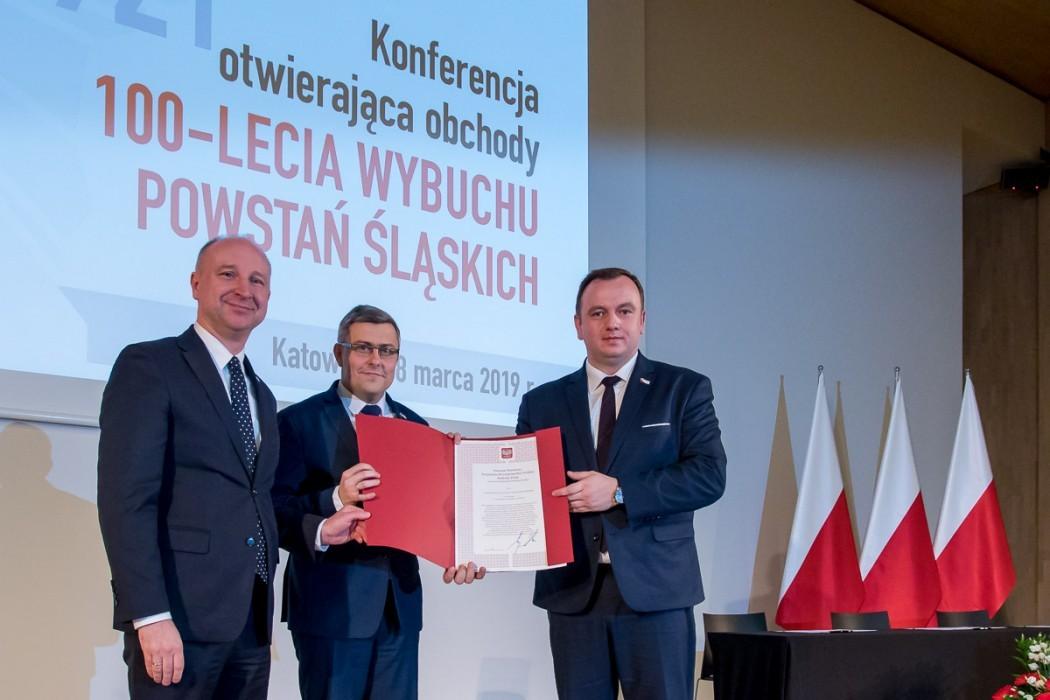 Konferencja otwierająca obchody 100-lecia Powstań Śląskich / fot. Tomasz Żak BP UMWS