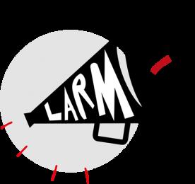 Logo konkursu Larmo!