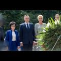 Złożenie wieńca przed Pomnikiem Powstańców Śląskich / fot. Tomasz Żak / UMWS
