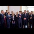 Odsłonięce tablicy upamiętniającej 100-lecie Powstań Śląskich w Gmachu Sejmu Śląskiego / fot. Tomasz Żak / UMWS